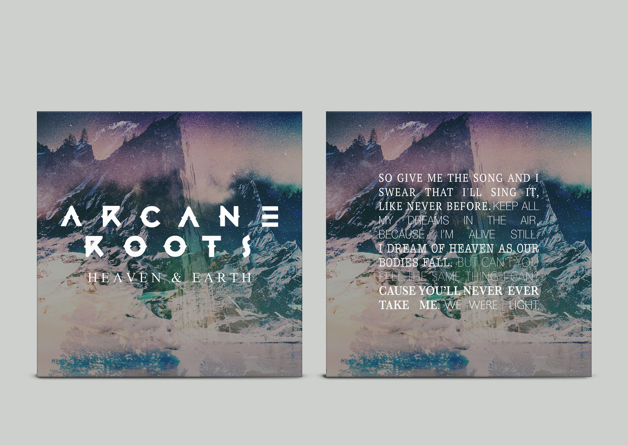 ARCANE ROOTS 'HEAVEN & EARTH' INSERT