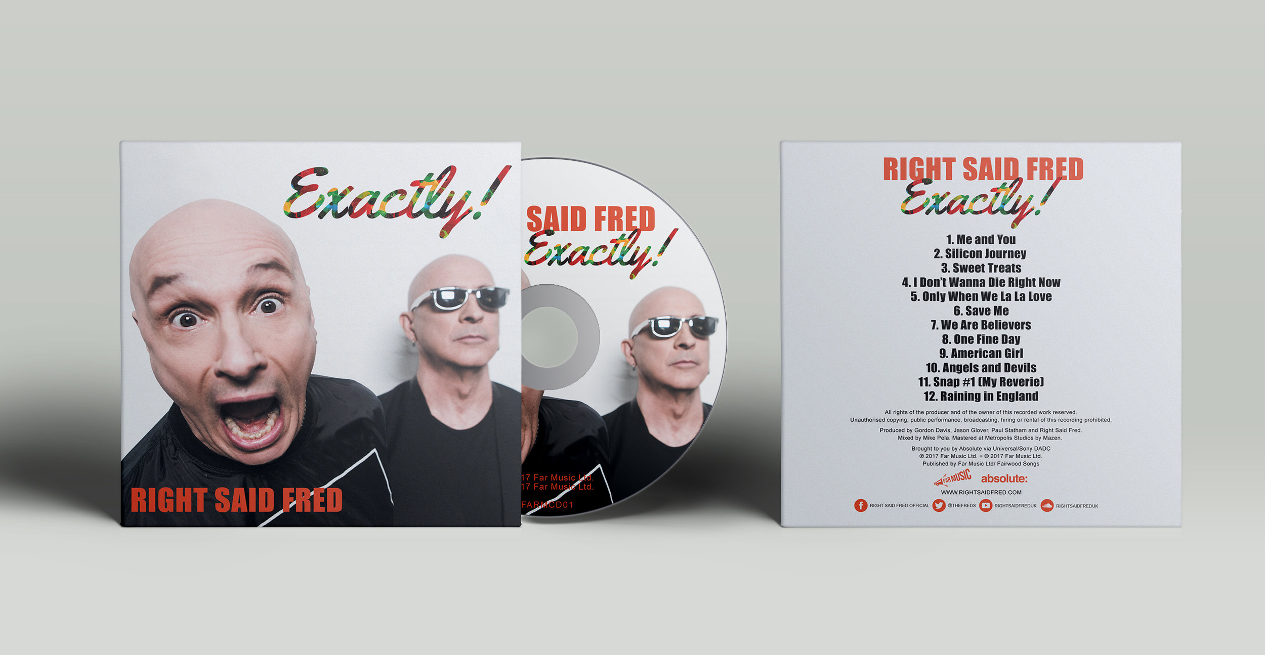 RIGHT SAID FRED 'EXACTLY' ALBUM CD