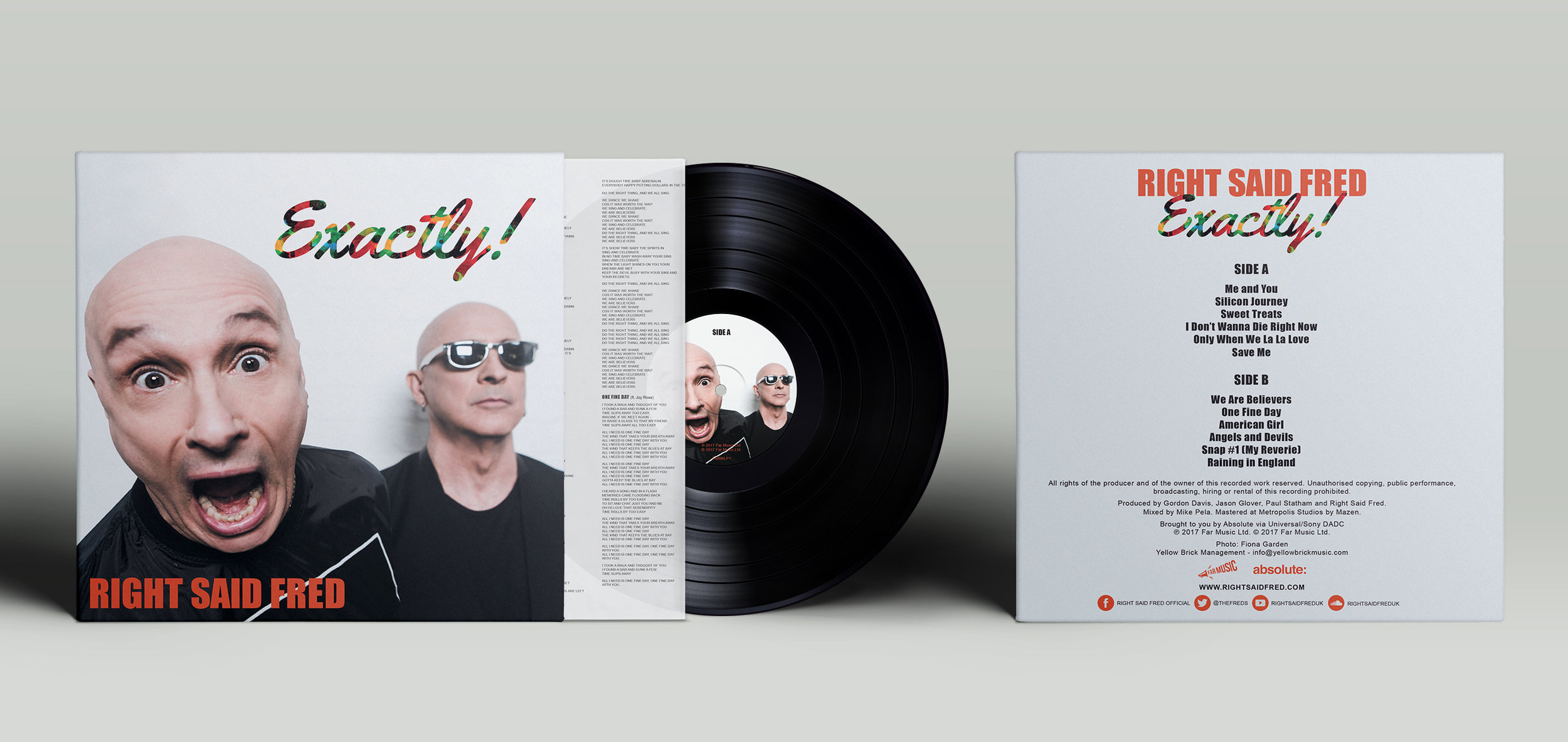 RIGHT SAID FRED 'EXACTLY' ALBUM LP