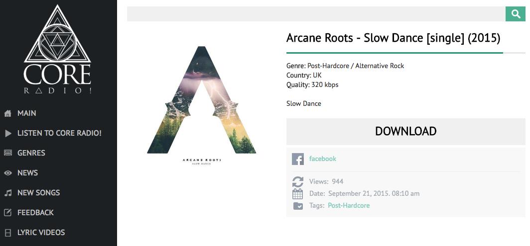 ARCANE ROOTS 'SLOW DANCE' DIGITAL SINGLE