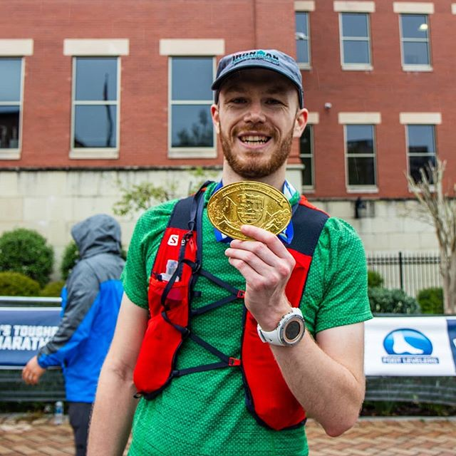 🏃‍♂️Double marathon #2 complete in 11:51 (66min better than my old double PR.) Great race with lots of great people! Such a crazy race, from running into pouring rain, hitting the Roanoke star in deep fog, and then the sunrise and lap two with so much support. America's toughest road marathon, for a total of nearly 8000 feet of gain on the 52 miles! ⛰️ Bit sore today. 😅