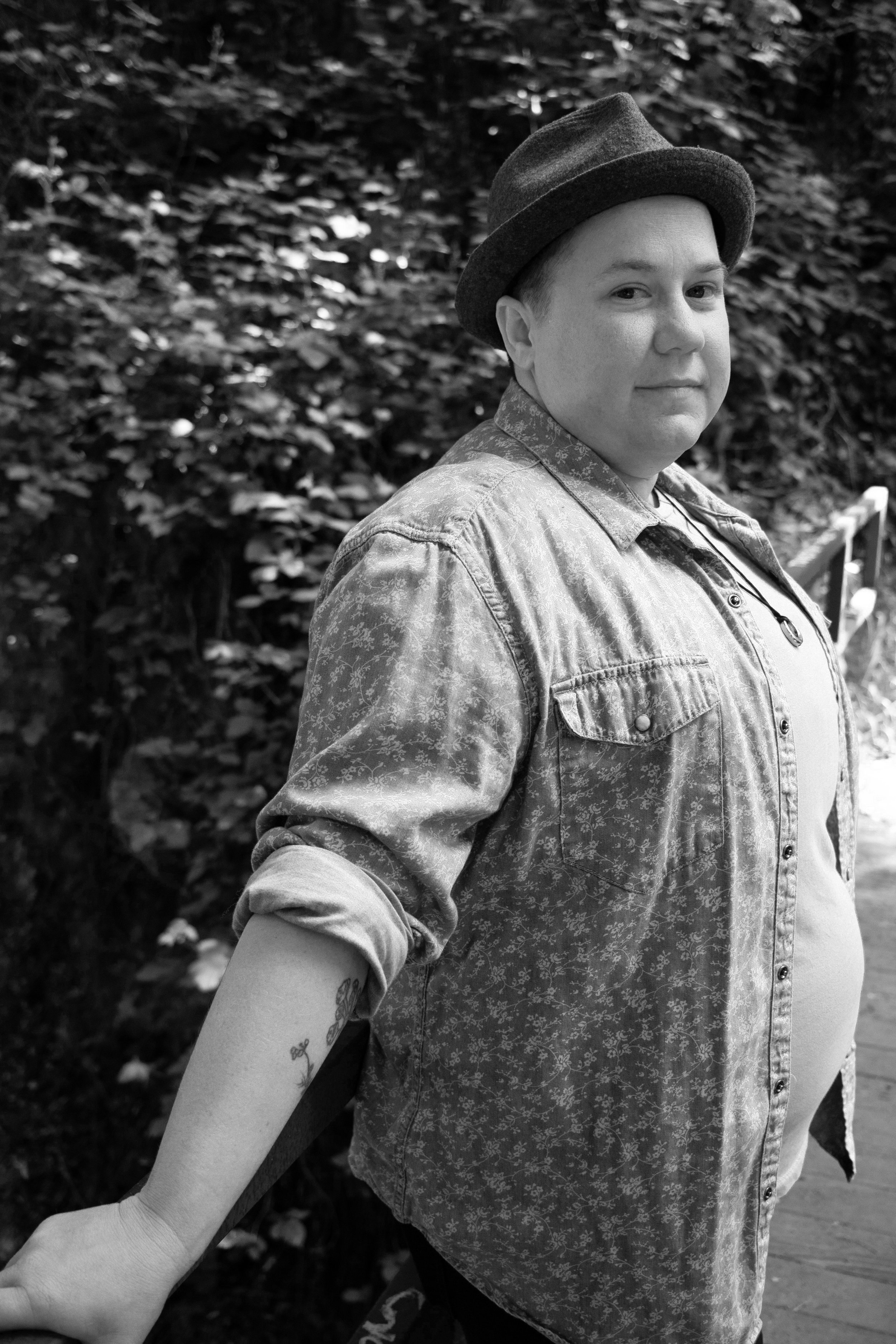 Dillbilly (pronouns: they/them) is a genre-queer songbird from the rural Midwest whose sound migrates across folk, Americana, roots, alt-country, and rock. The vehicles of their songs alternate between piano, guitar, ukulele, and banjo. Currently, Dillbilly has made a home in Oakland, California, where they have teamed up with renowned musician and producer Julie Wolf to create their tenth full-length record, which will be released in 2019 by Waxsimile Productions.