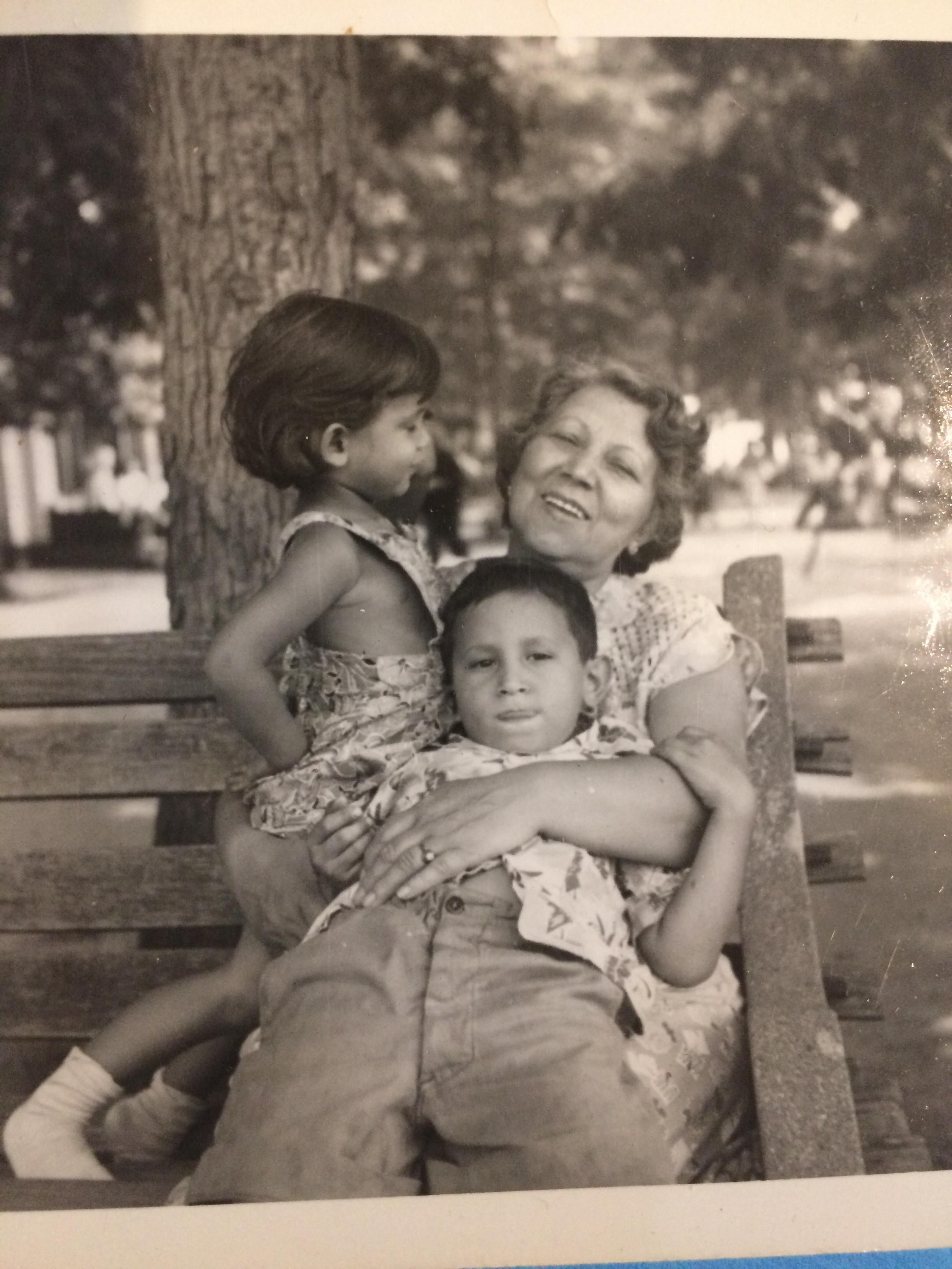 At the park, circa 1949-1950
