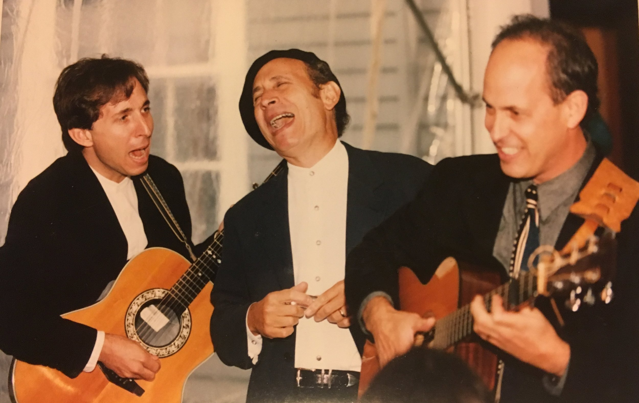 Roger, Dave, and Lev - the Friedman Blues Brothers, 1997