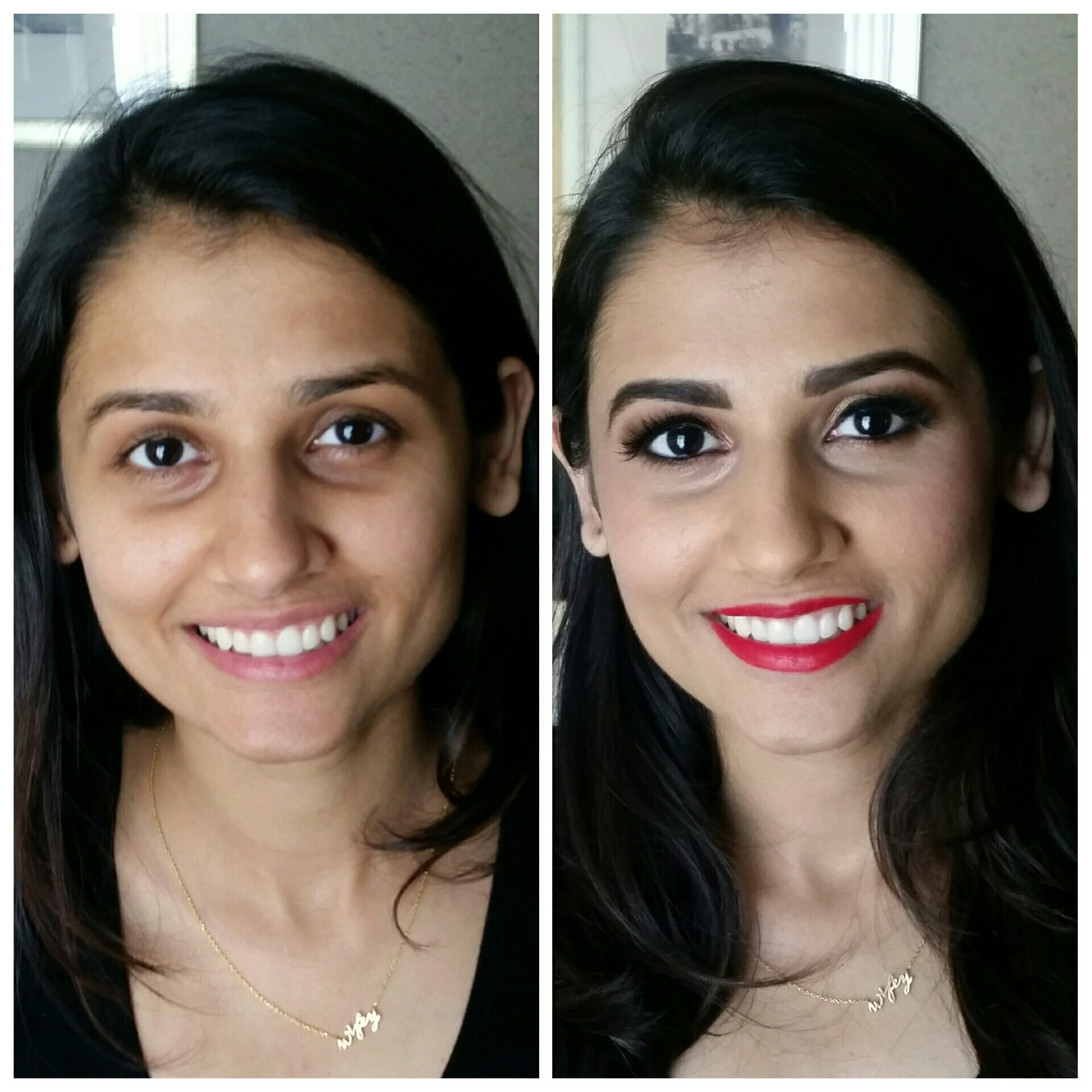 Indian Wedding Attendee with Airbrush and False Lashes.jpg