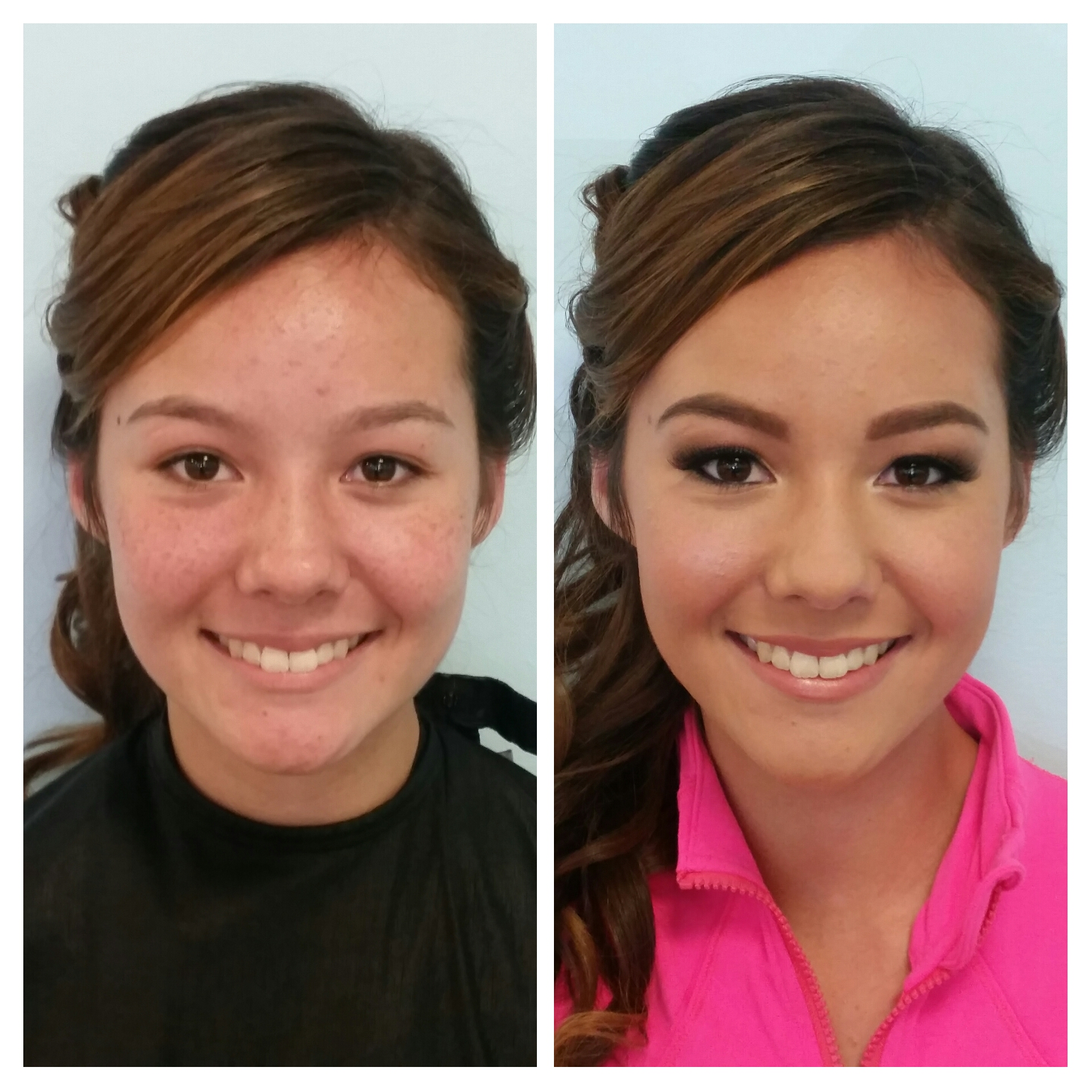 Sophistocated Homecoming Makeup Application with Airbrush and False Lashes by Luminous Beauty Makeup Artist.jpg