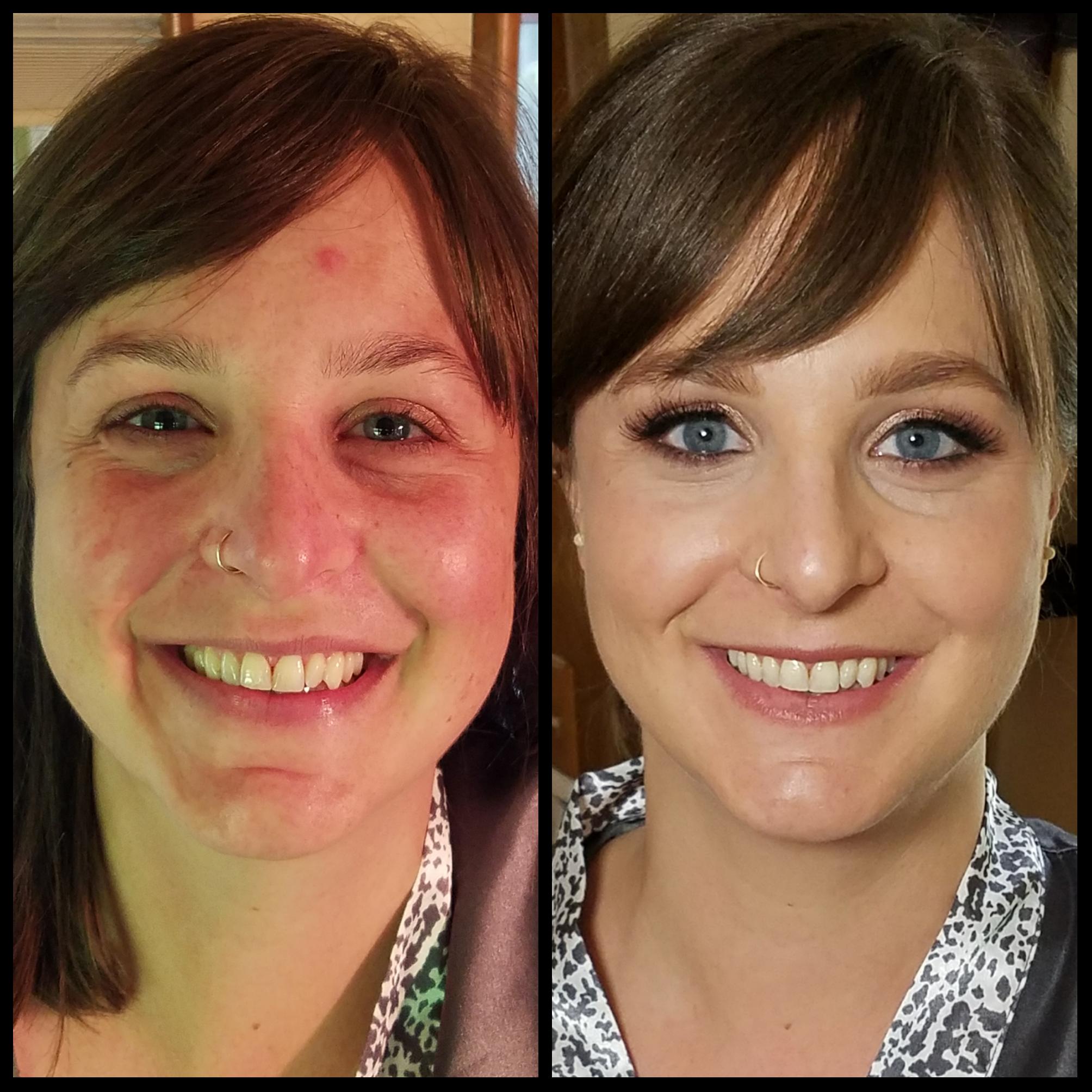 Skin Tone Evening and Eye Popping Blue Eye Bridesmaid Makeup Application Luminous Beauty Makeup Artist.png