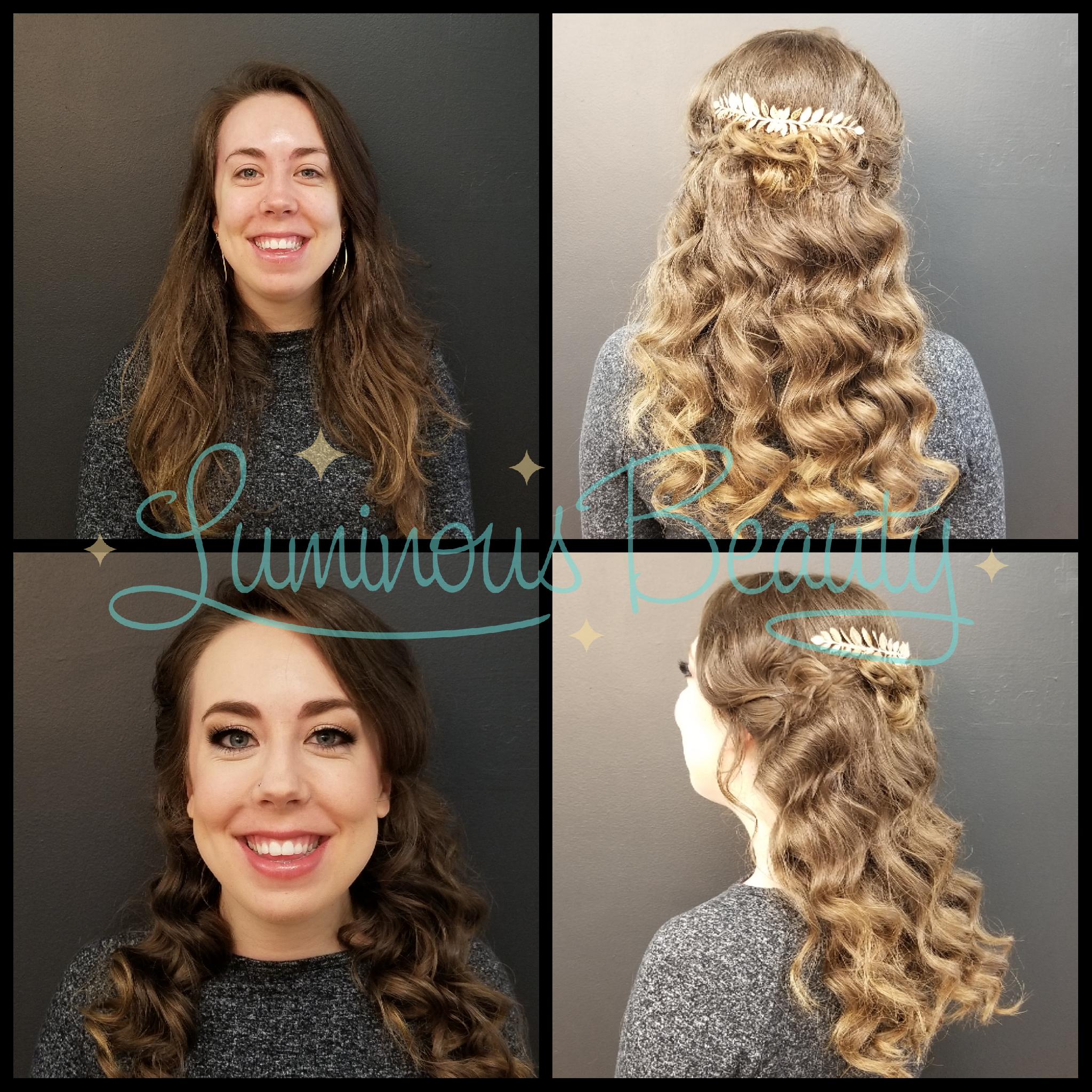 Bridal Trial Run. Airbrush Makeup, Smokey Eyes and Mink False Lashes. Luminous Beauty Makeup Artist and Stylist. Cascading Half -Up Bridal Hairstyle..png