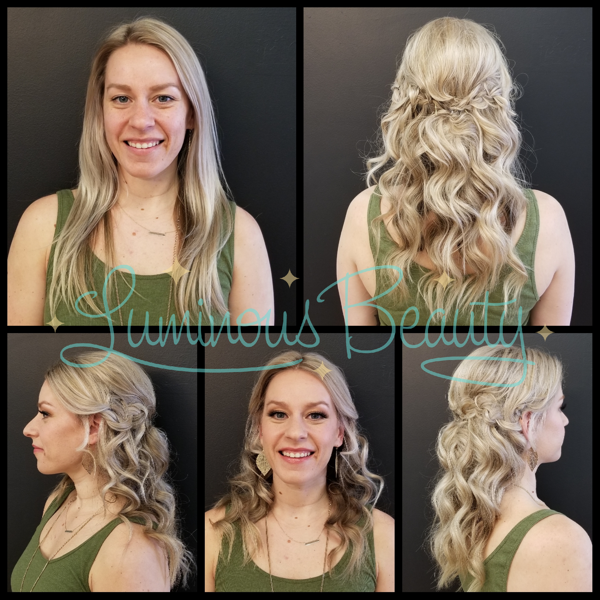 Bridal Trial Run. Makeup with Golden Eyes and Mink False Lashes. Luminous Beauty Makeup Artist and Stylist. Cascading Half -Up Bridal Hairstyle with Braids..png