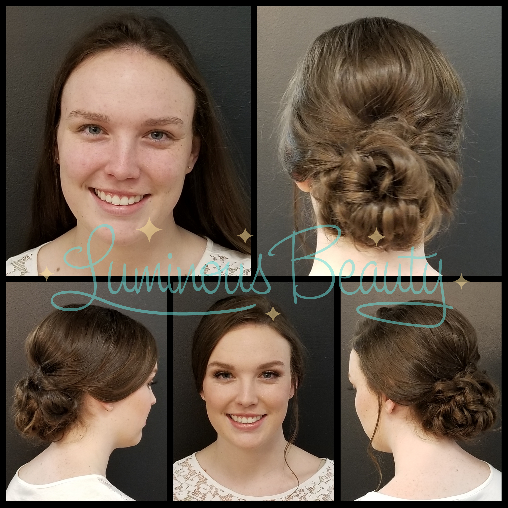 Loopy Knotted Bridal Updo. Bridal Trial Run Hair. Makeup with Airbrush and Mink False Lashes. Luminous Beauty Hairstylist & Makeup Artits Trial Run..png