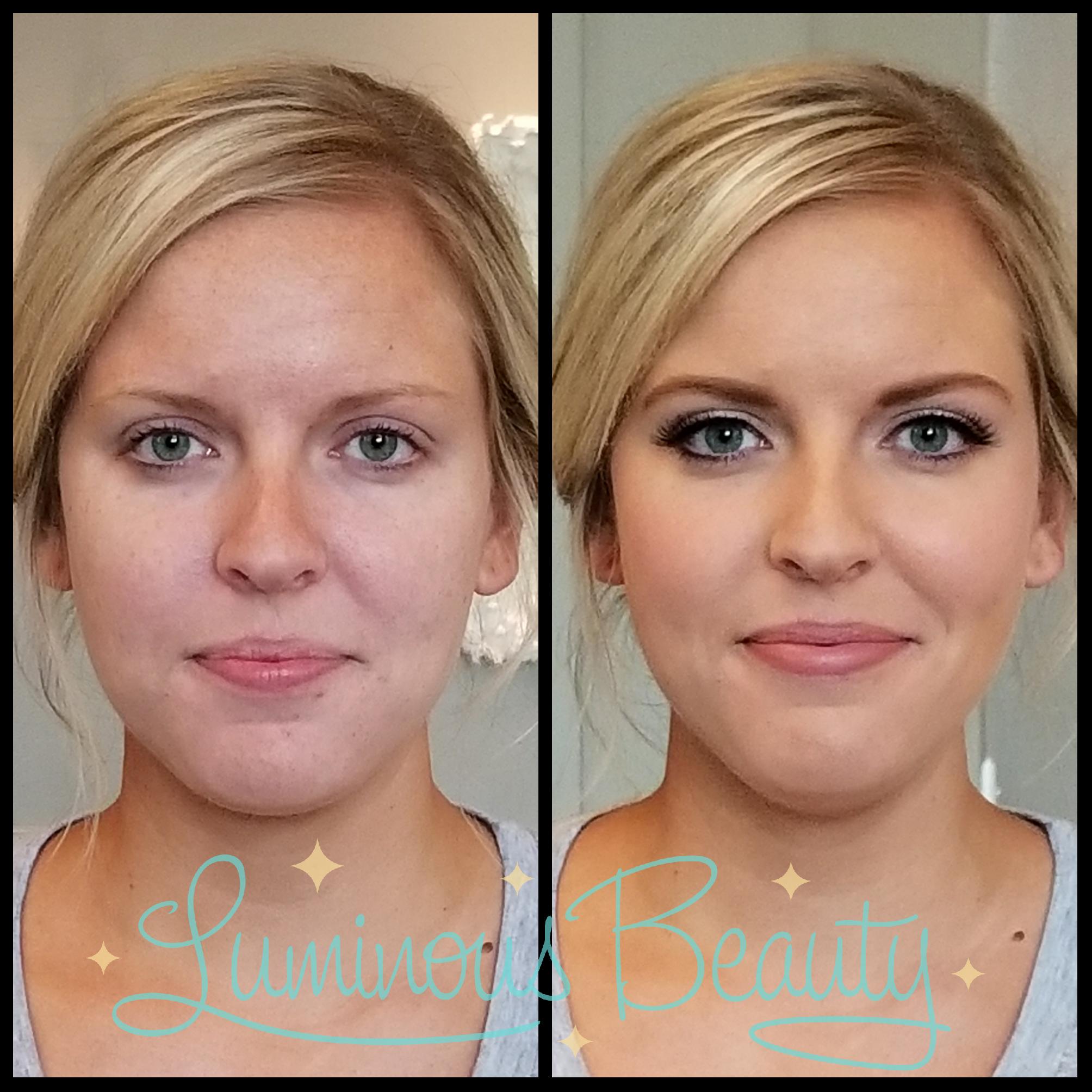 Skin Tone Evening Aibrush Makeup with Stunning Smokey Eyes with False Lashes Bridesmaids Makeup. Luminous Beauty Makeup Artist..png