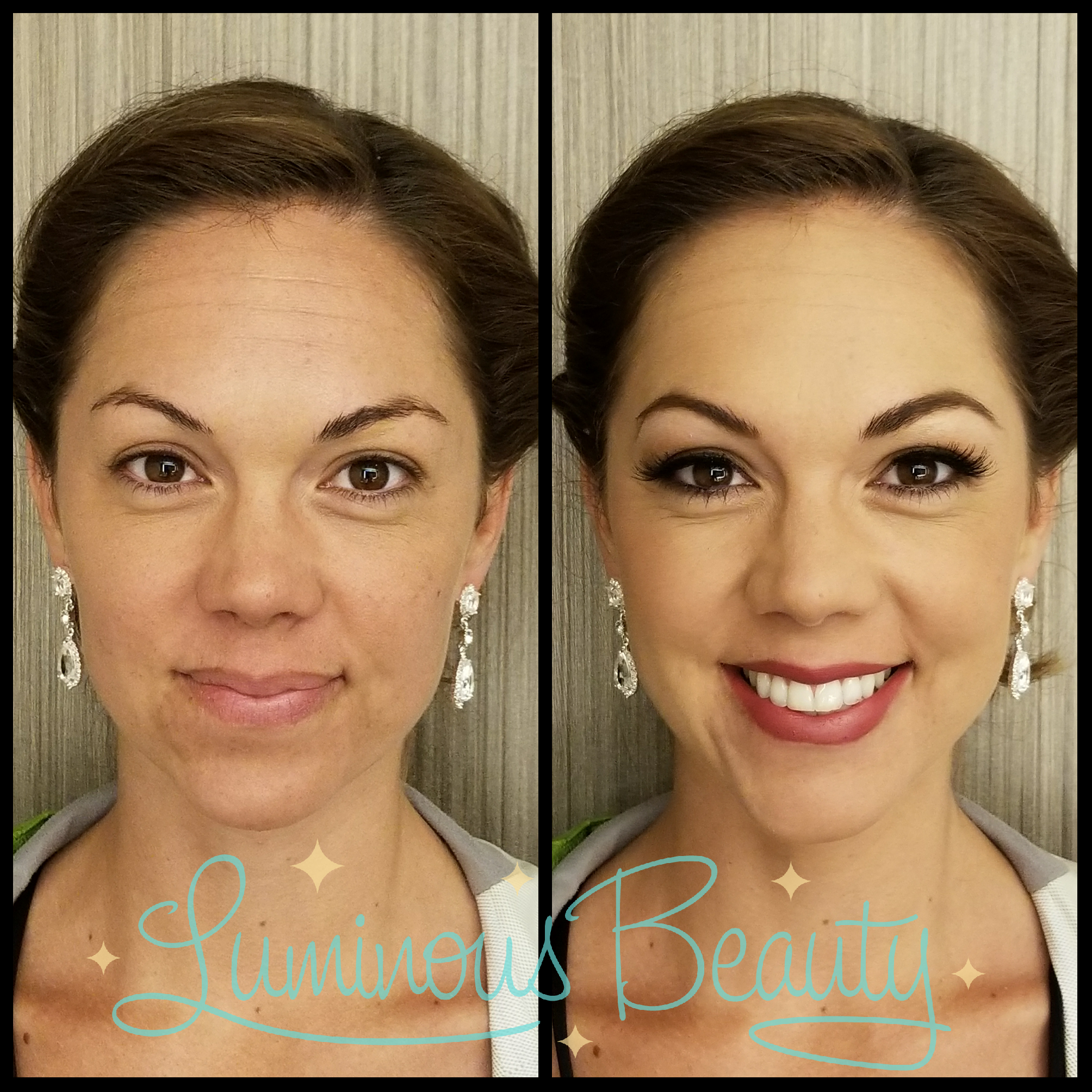 Bold Brown Eyed Beauty Bridemaids Makeup with Airbrush and Lashes. Luminous Beauty Makeup Artist..png