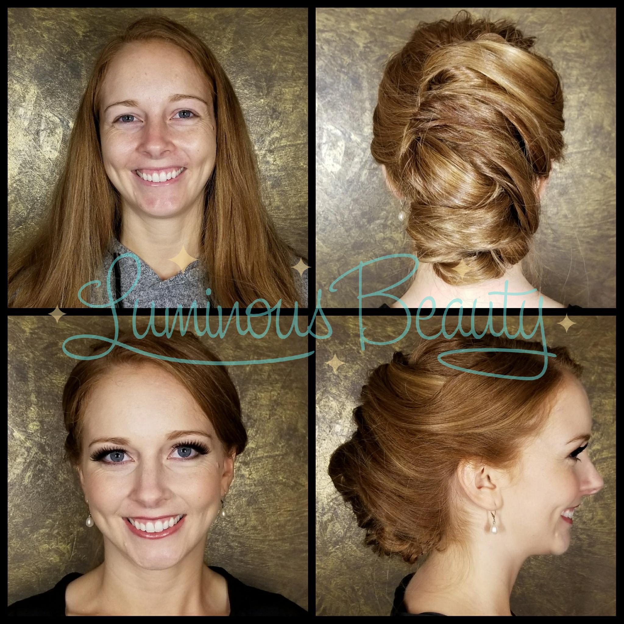 Soo Much Hair! Extra Long Hair Bridesmaids Updo. Modern French Twist. Luminous Beuaty Hair Stylist & Luminous Beauty Makeup Artist..png