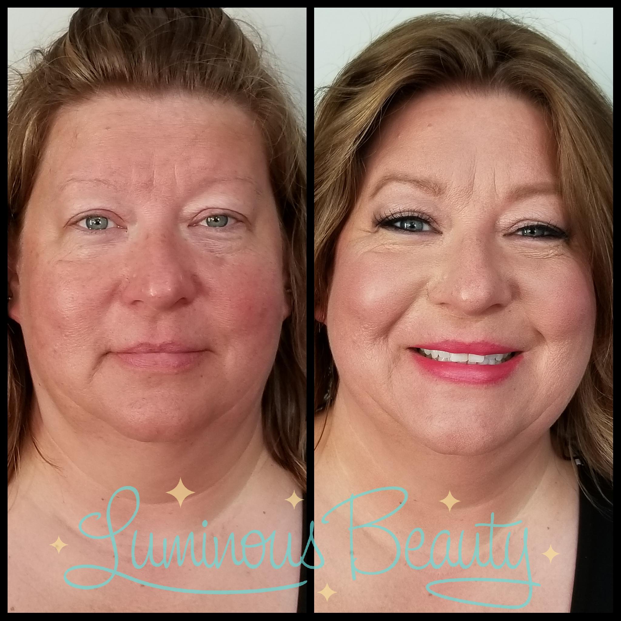 Mother of Bride Makeup. Redness Covering Airbrush Makeup. False Lashes & Bold Lip. Luminous Beauty Makeup Artist..png