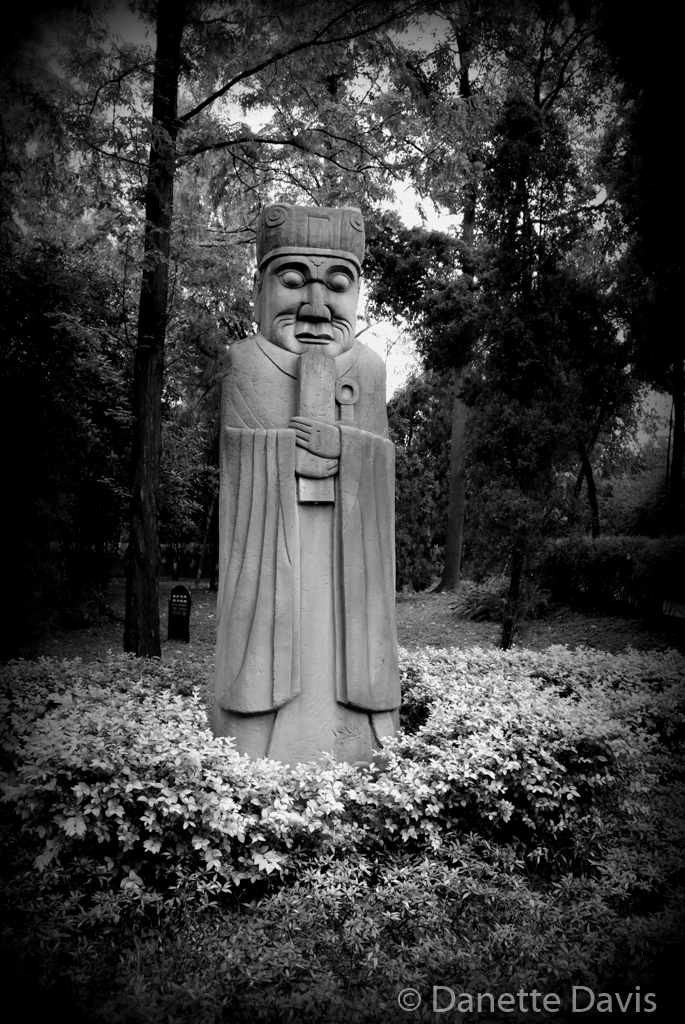 Statue outside Tomb, Sichuan,  China