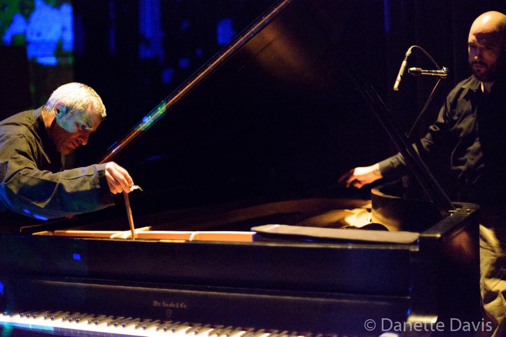L-R: Yesod, Kurdish Drum (Ahmad Yousefbeigi) and Ray Clemens,  2015