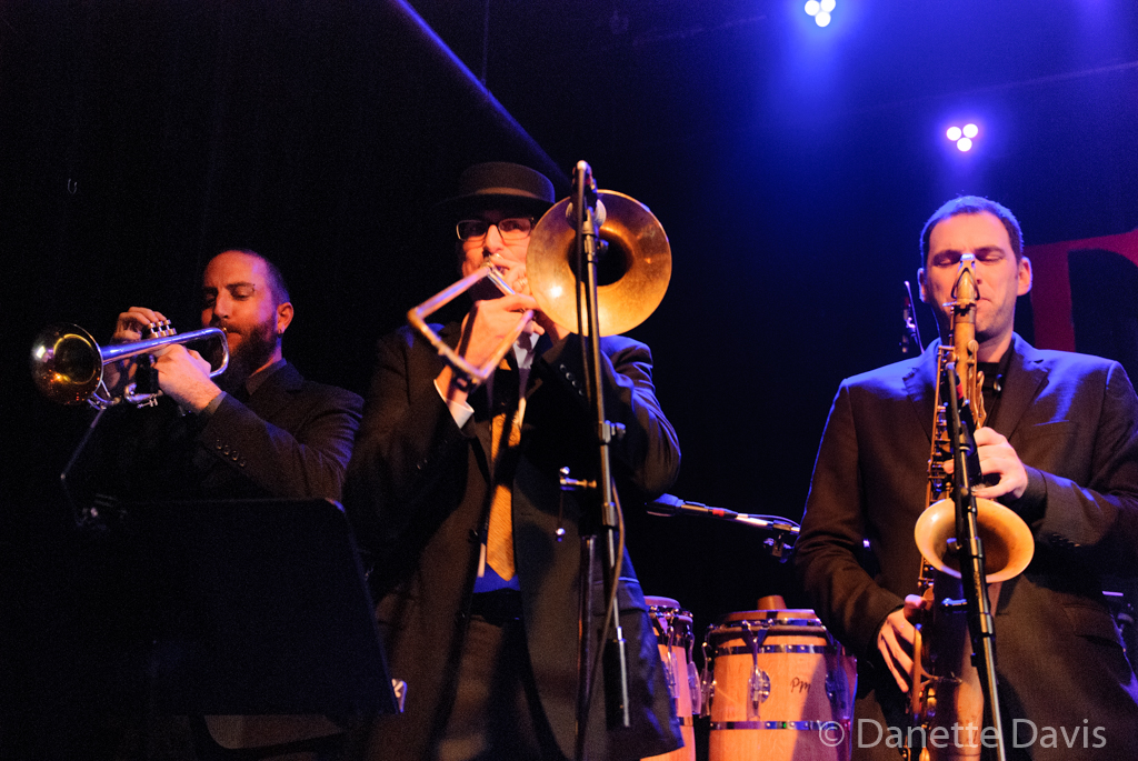 L-R: Trevor Parrish, Roy Brown, and Gordon Brown, Grace Love & The True Loves,  2016 , Tractor Tavern