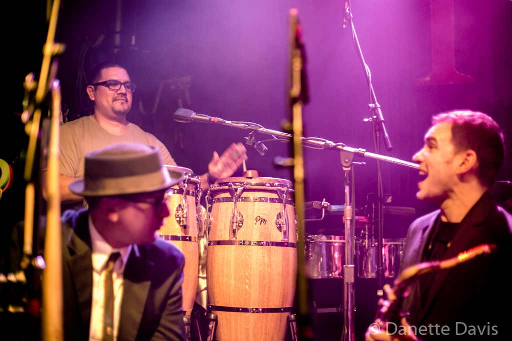 L-R: Roy Brown, Ivan Galvez, and Gordon Brown, Grace Love & The True Loves,  2016 , Tractor Tavern