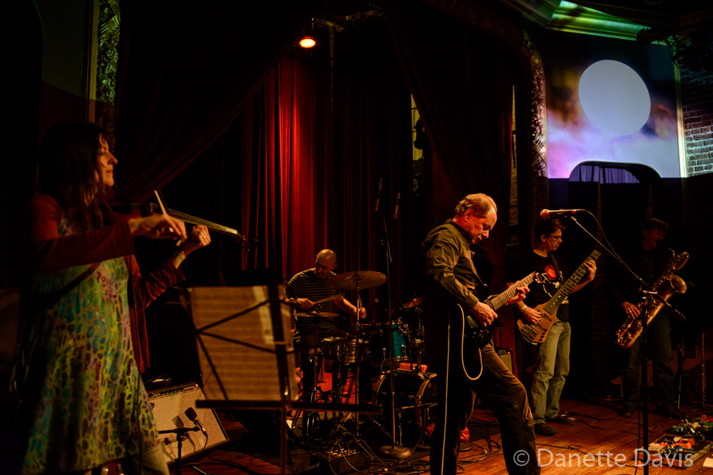 L-R: Alicia DeJoie, Brian Oppel, Dennis Rea, Kevin Millard, and Jim DeJoie, Moraine, Columbia City Theater,  2016