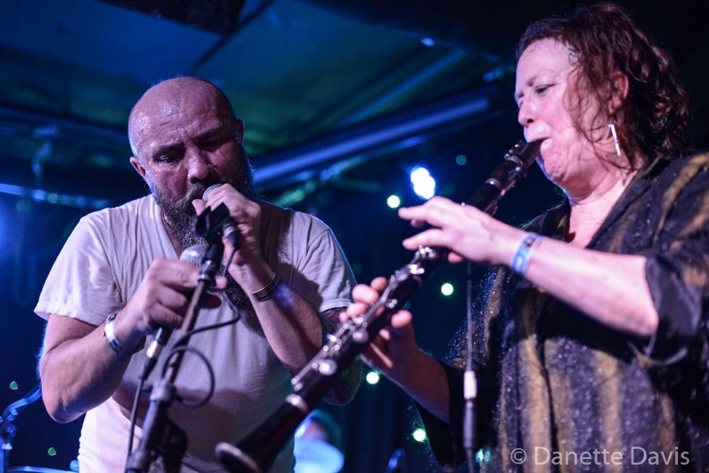 L-R: Amy Denio and Gino Yevdjevich, Kultur Shock,  2016 , at Chop Suey