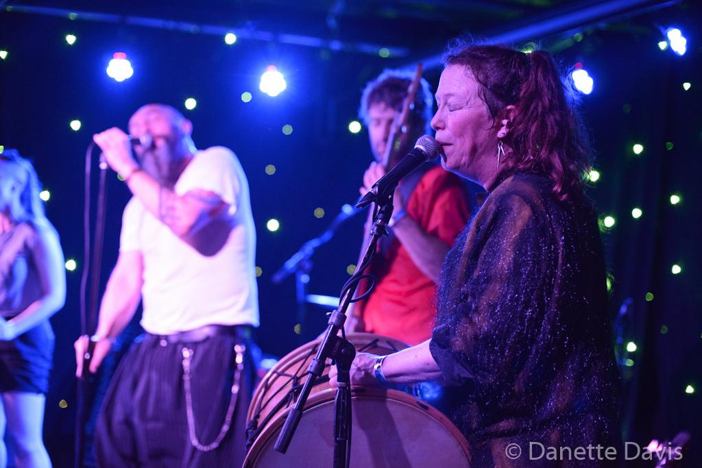 L-R: Paris Hurley, Gino Yevdjevich, Guy M. Davis and Amy Denio, Kultur Shock,  2016 , at Chop Suey