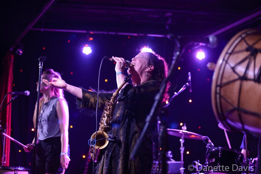 L-R: Paris Hurley and Amy Denio, Kultur Shock,  2016 , at Chop Suey