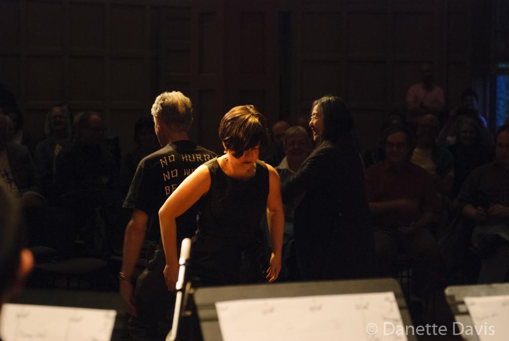 L-R: Stuart Dempster, Renko Ishida Dempster, Margaret Sunghe Paek,  2016 , at The Chapel