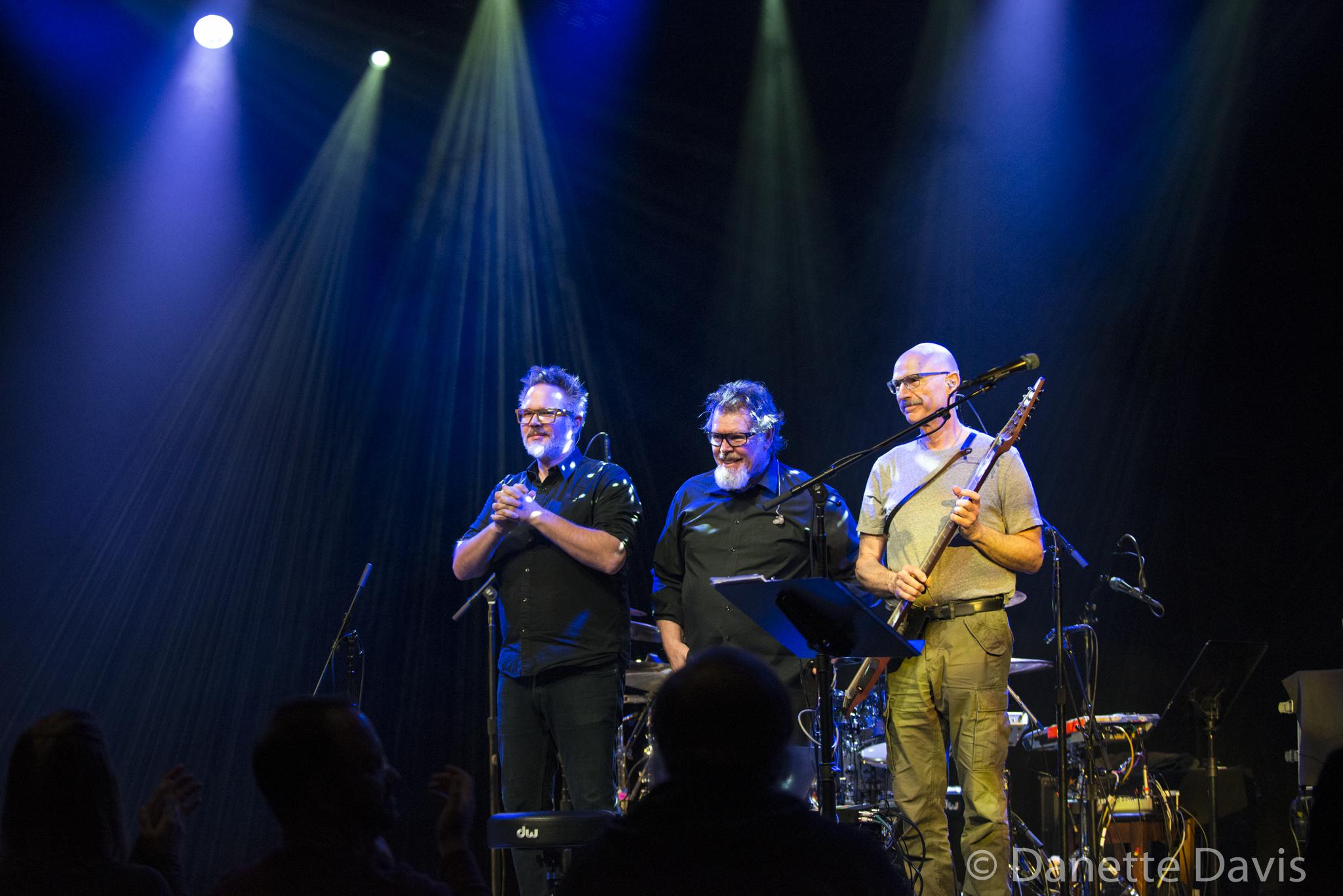 L-R: Markus Reuter, Pat Mastelotto, and Tony Levin, Stick Men,  2017 , at Triple Door
