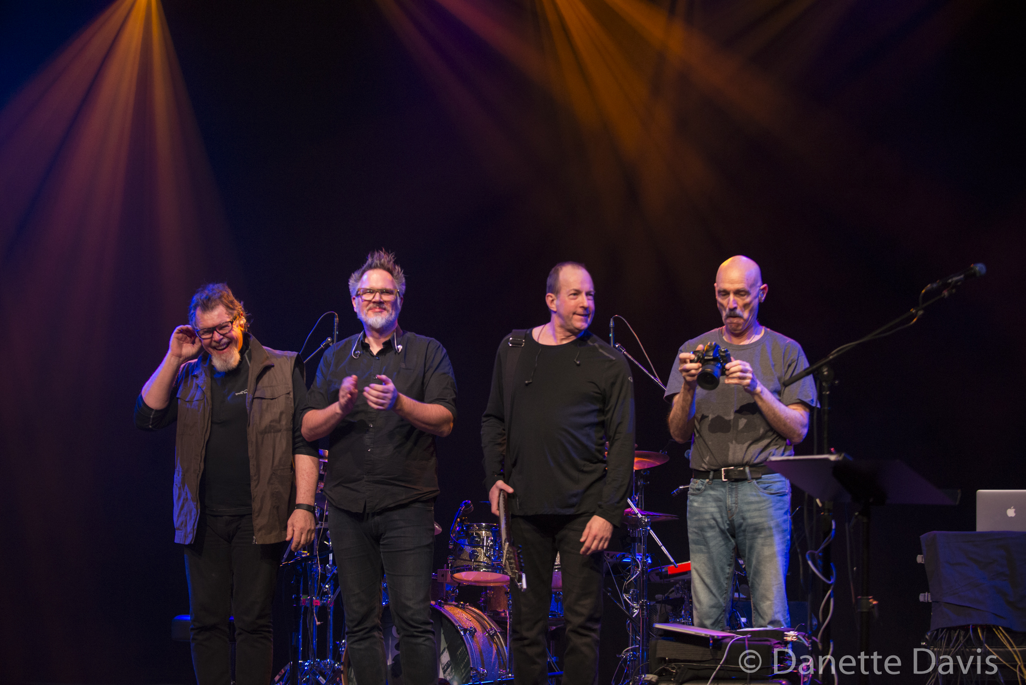 L-R: Pat Mastelotto, Markus Reuter, Trey Gunn, Tony Levin, Stick Men,  2017 , at Triple Door