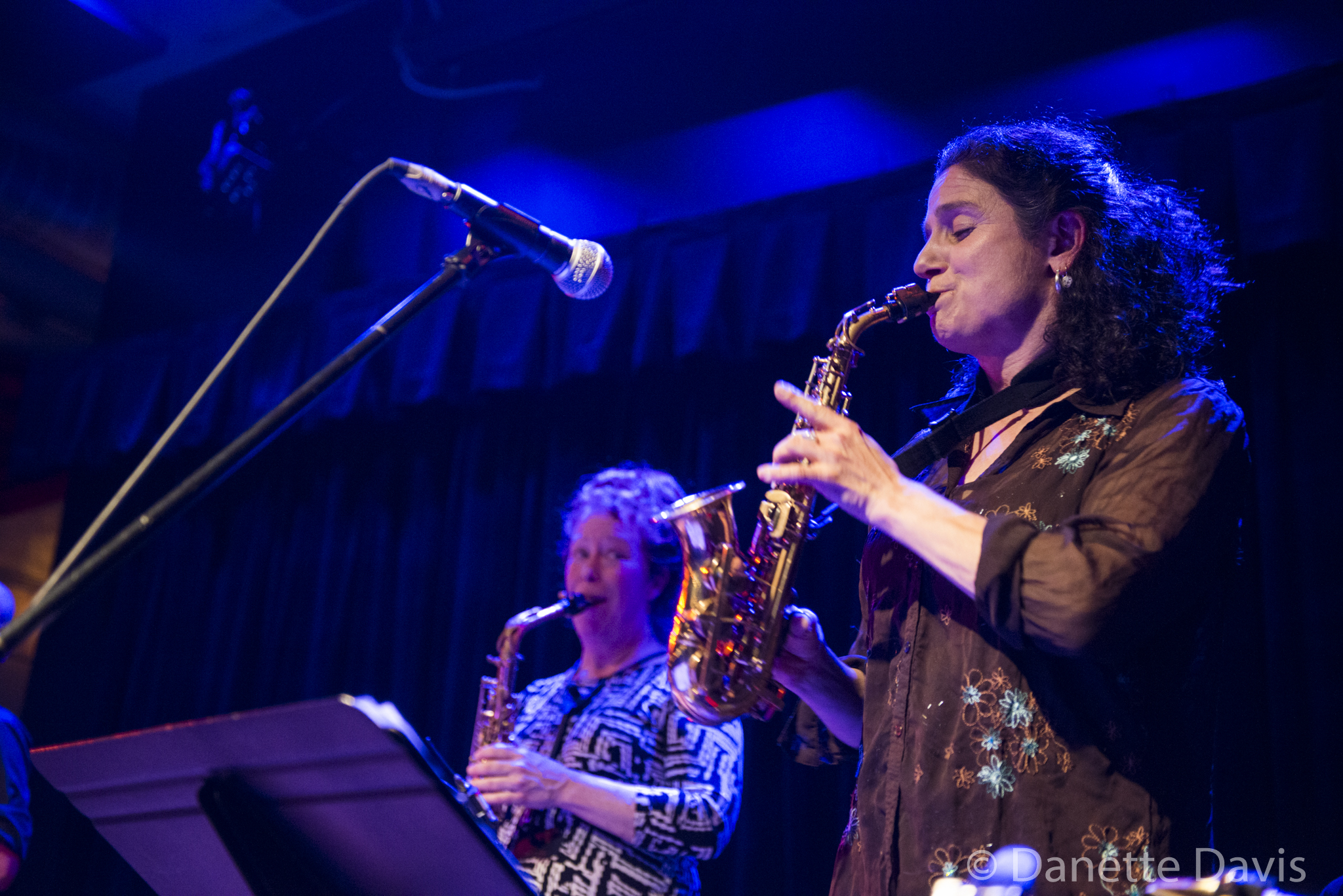 L-R: Amy Denio and Jessica Lurie, The Tiptons Sax Quartet,  2016