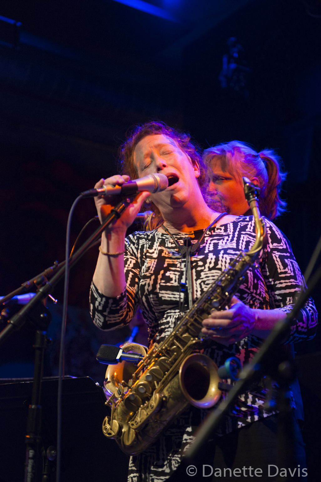 L-R: Amy Denio and Sue Orfield, The Tiptons Sax Quartet,  2016