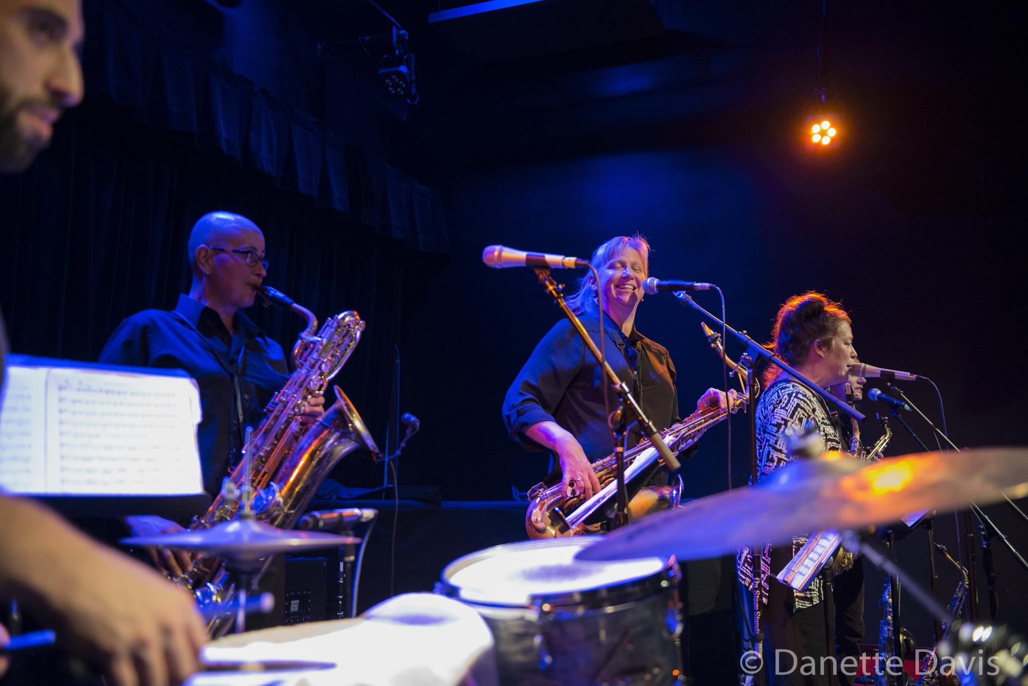 L-R: Tarik Abouzied, Tina Richardson, Sue Orfield, and Amy Denio, The Tiptons Sax Quartet,  2016