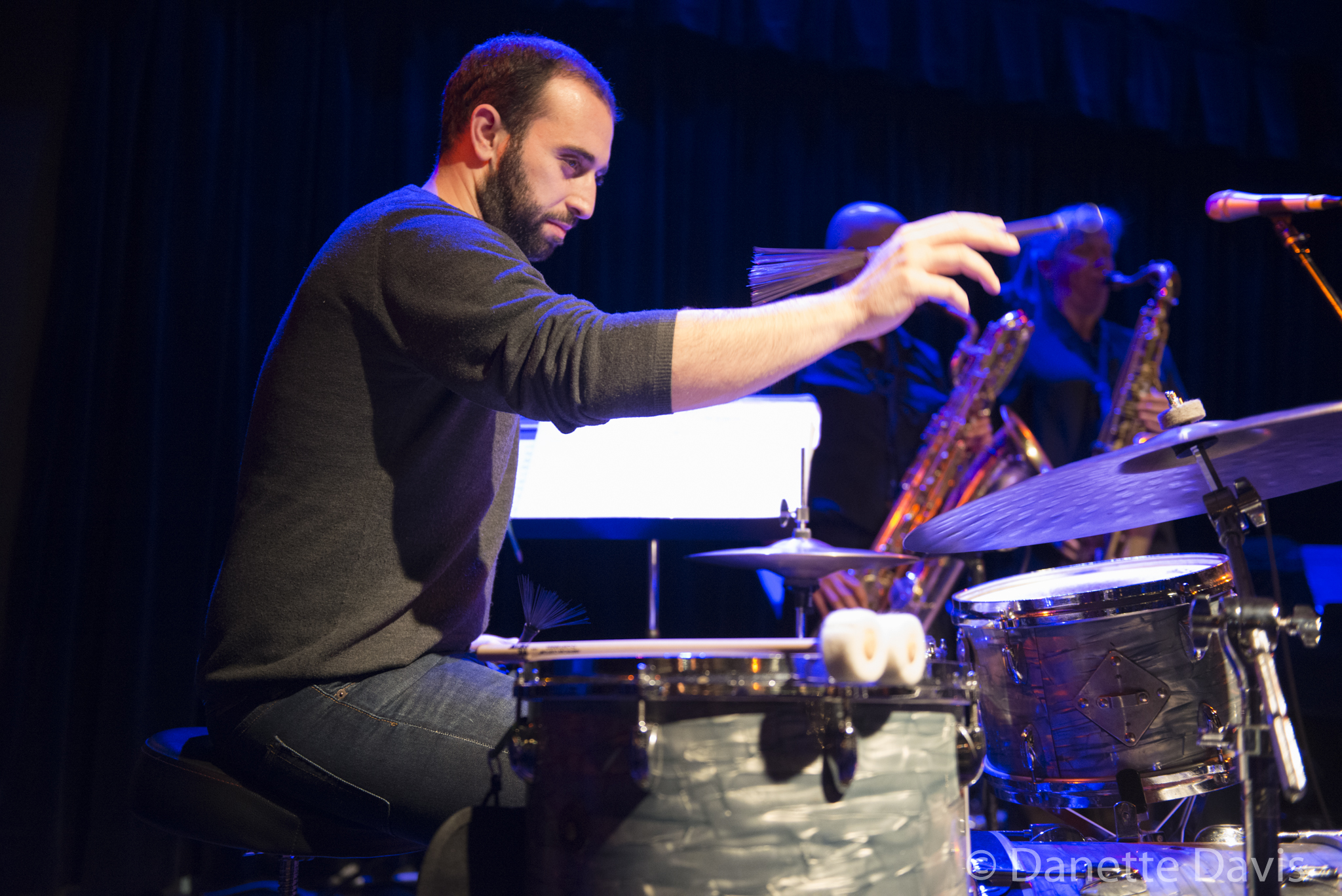 L-R: Tarik Abouzied, The Tiptons Sax Quartet,  2016