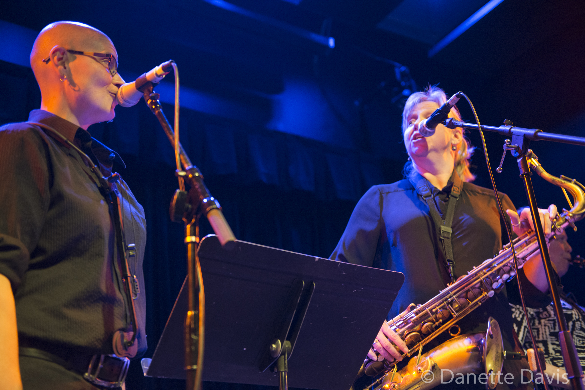 L-R: Tina Richardson and Sue Orfield, The Tiptons Sax Quartet,  2016