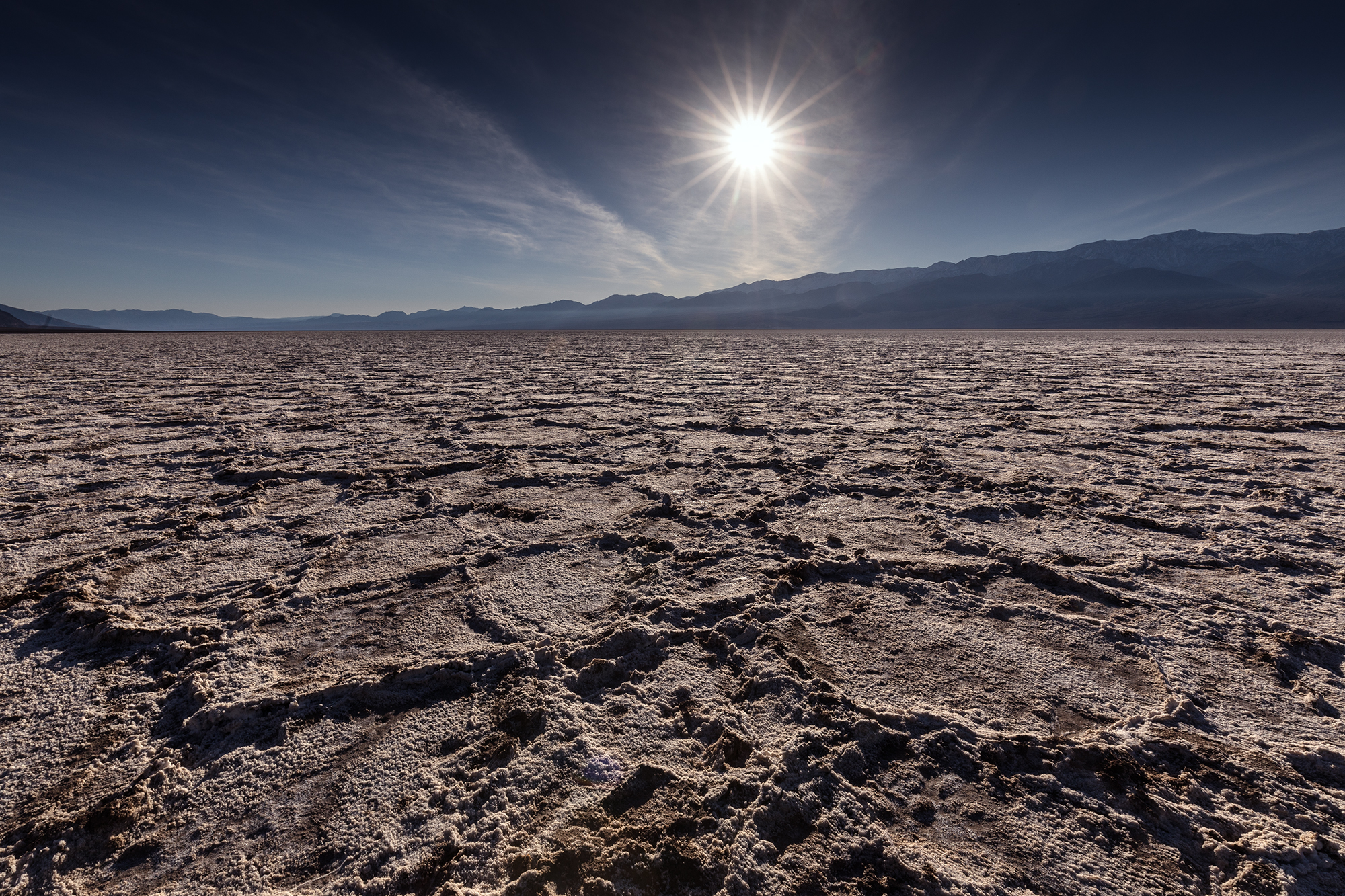 Badwater Basin salt craters