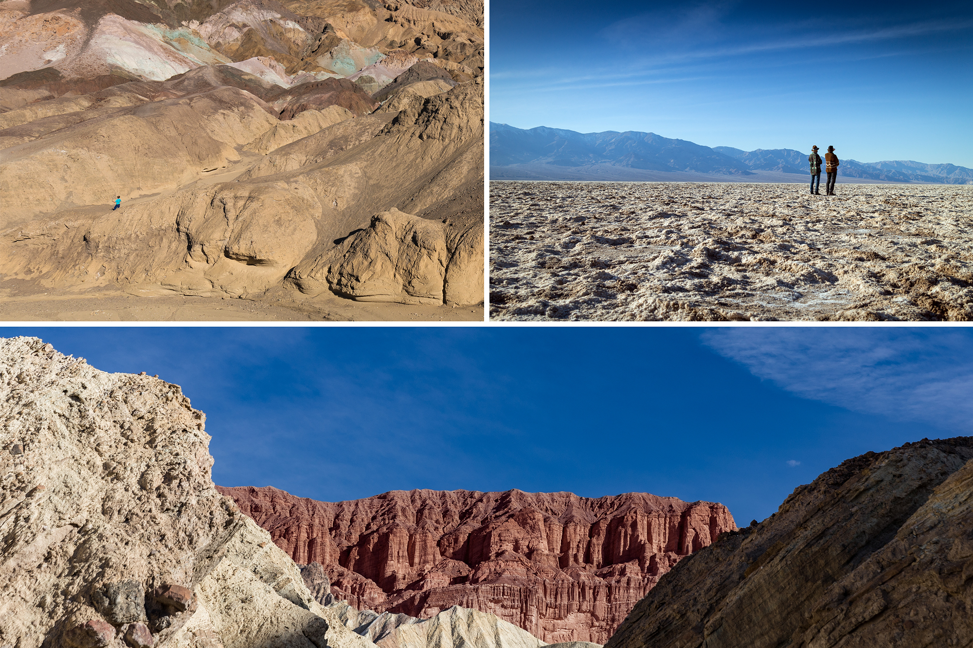 Artist's Palette, Badwater Basin and Red Cathedral