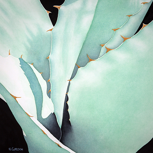 Agave Abstraction  ©nancgordon2016 All rights reserved