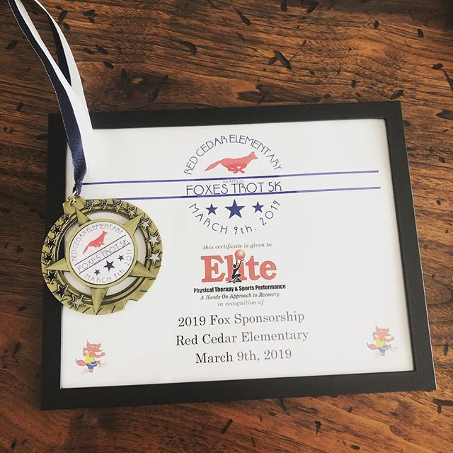Supporting the community is one of our fundamental values. Not only helping people recover but to promote healthy lifestyles as well. #redcedarelementary #foxestrot5k #healthy #exercise #physicaltherapy #community #blufftonsc
