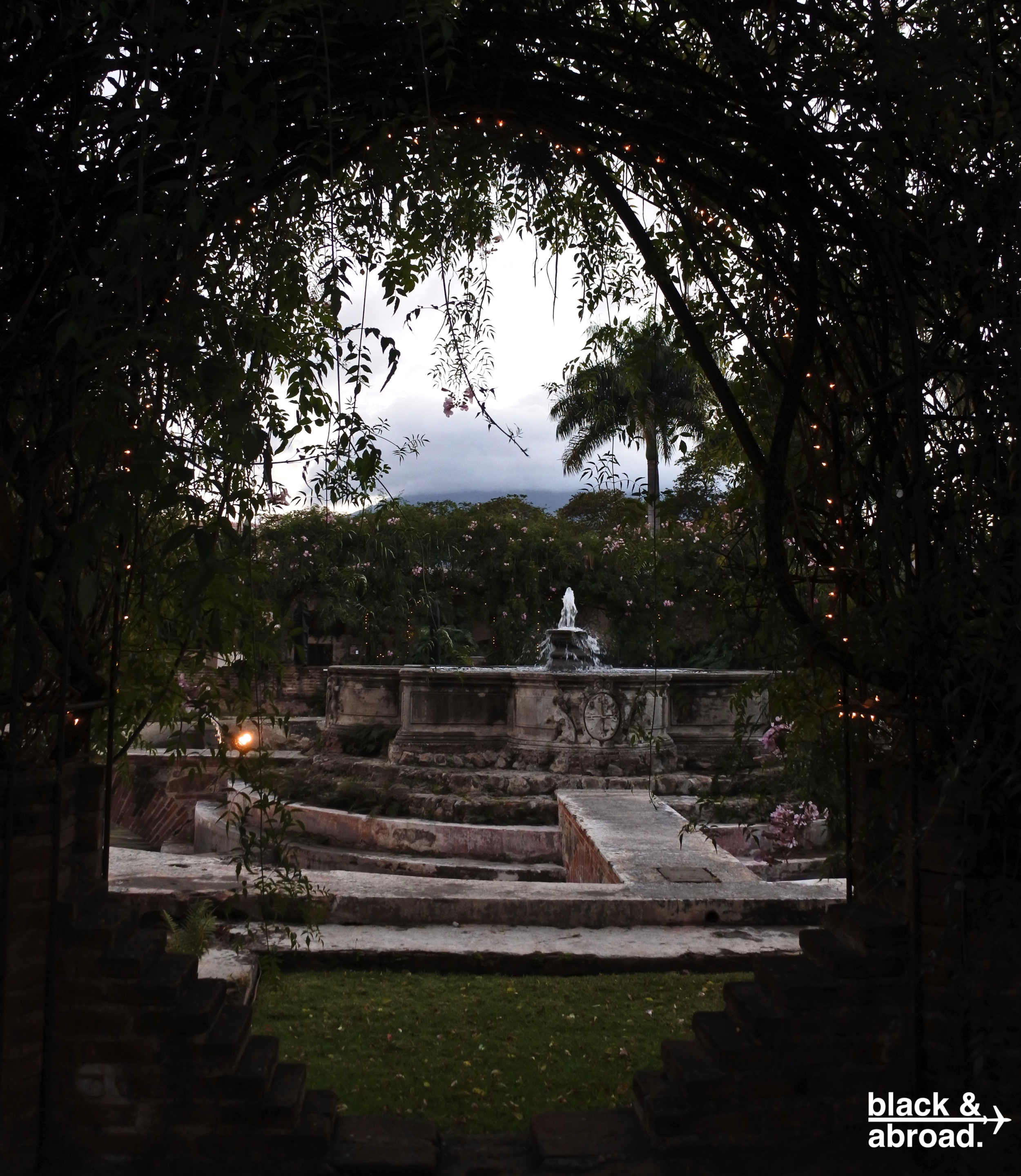 The hotel grounds of Casa Santo Domingo are a thing of beauty. There's also an art gallery, a museum, and a restaurant that lets you zip-line while you wait for your table!