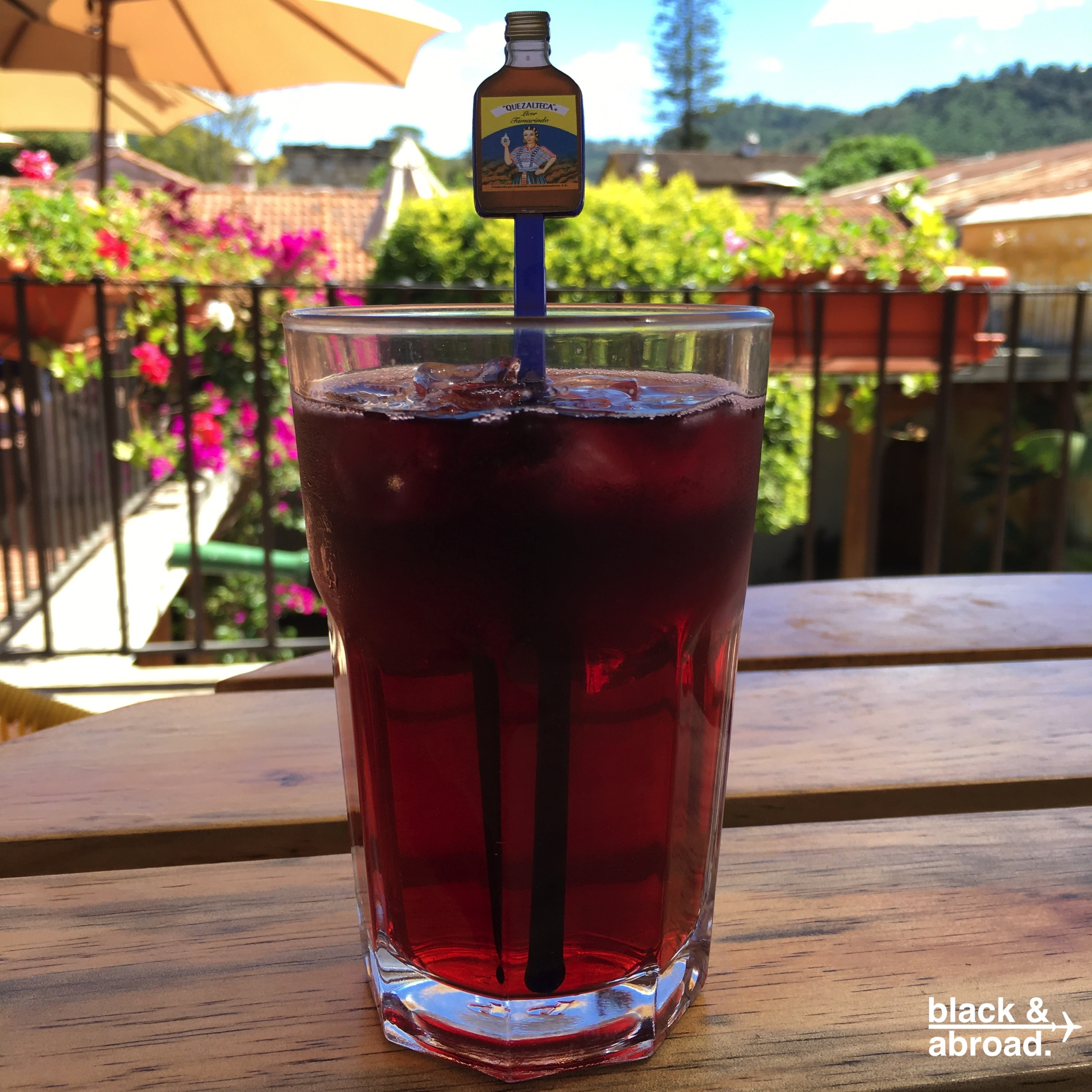 The Cucurucho: Tequila, vodka, rum, triple sec, gin, hibiscus and red wine....and deliciousness.