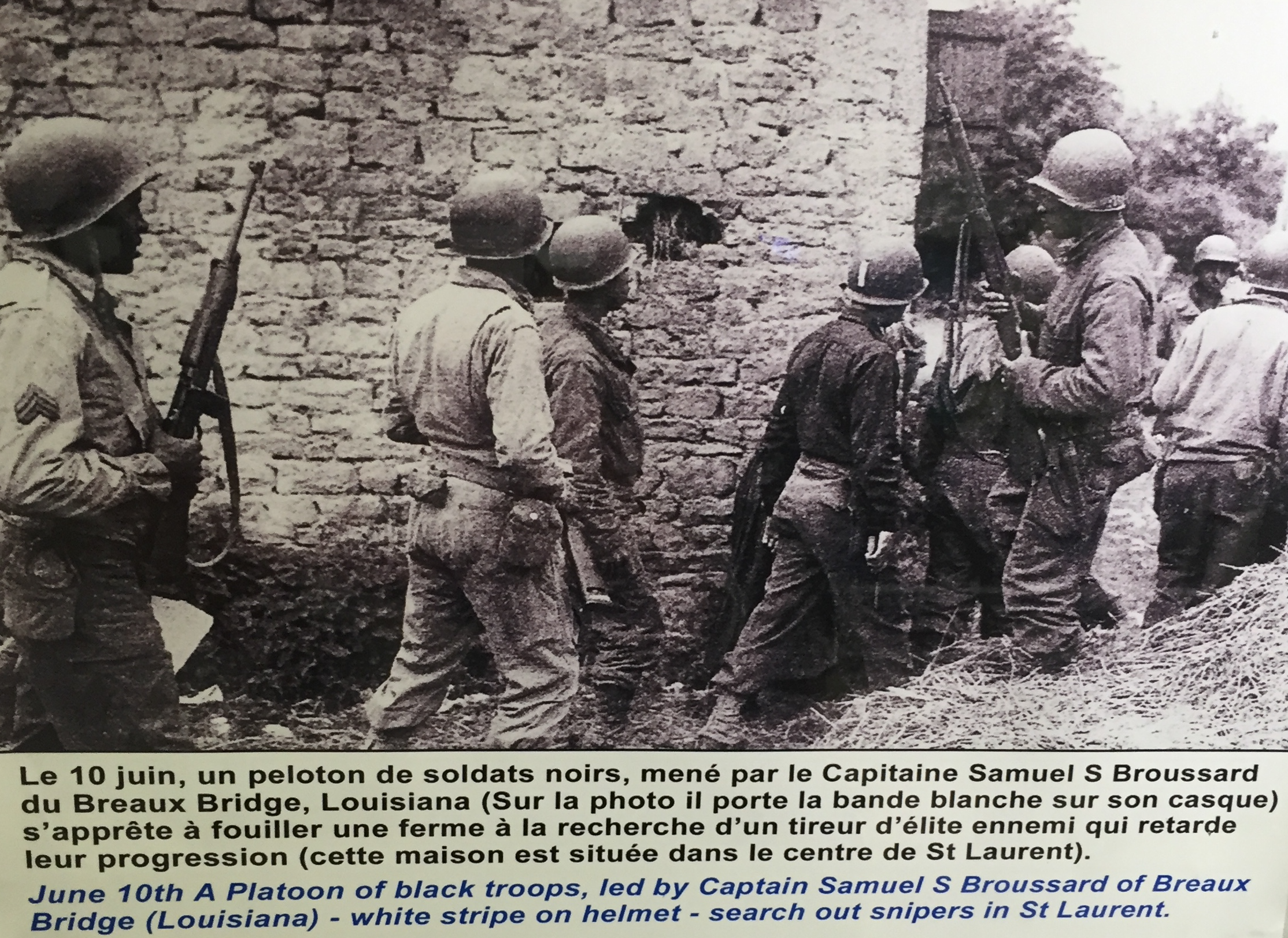 One of the few mentions of black soldiers in Normandy.