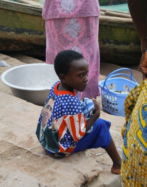 Young Ghanaian child in a fishing town, 2009, one year after Obama was elected