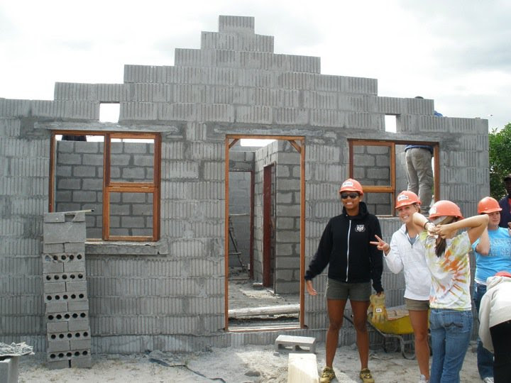 Working on the house in Mfuleni.