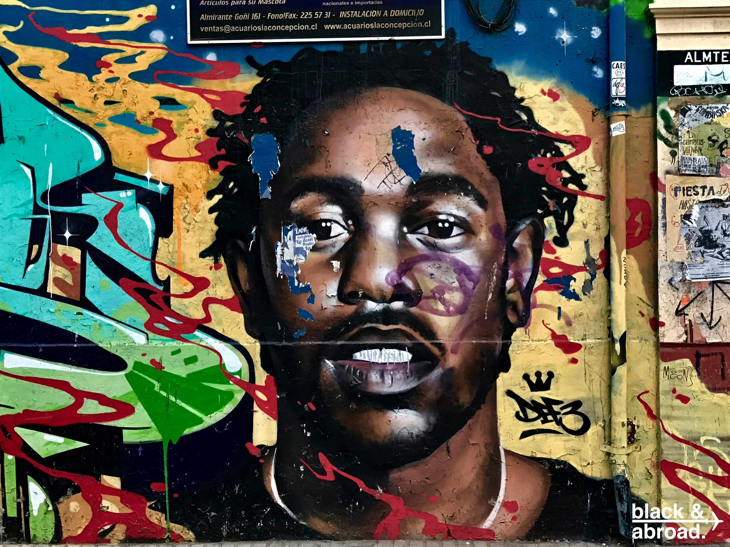 A mural of Kendrick Lamar was one of the more interesting street art pieces we came across while in Valpo!