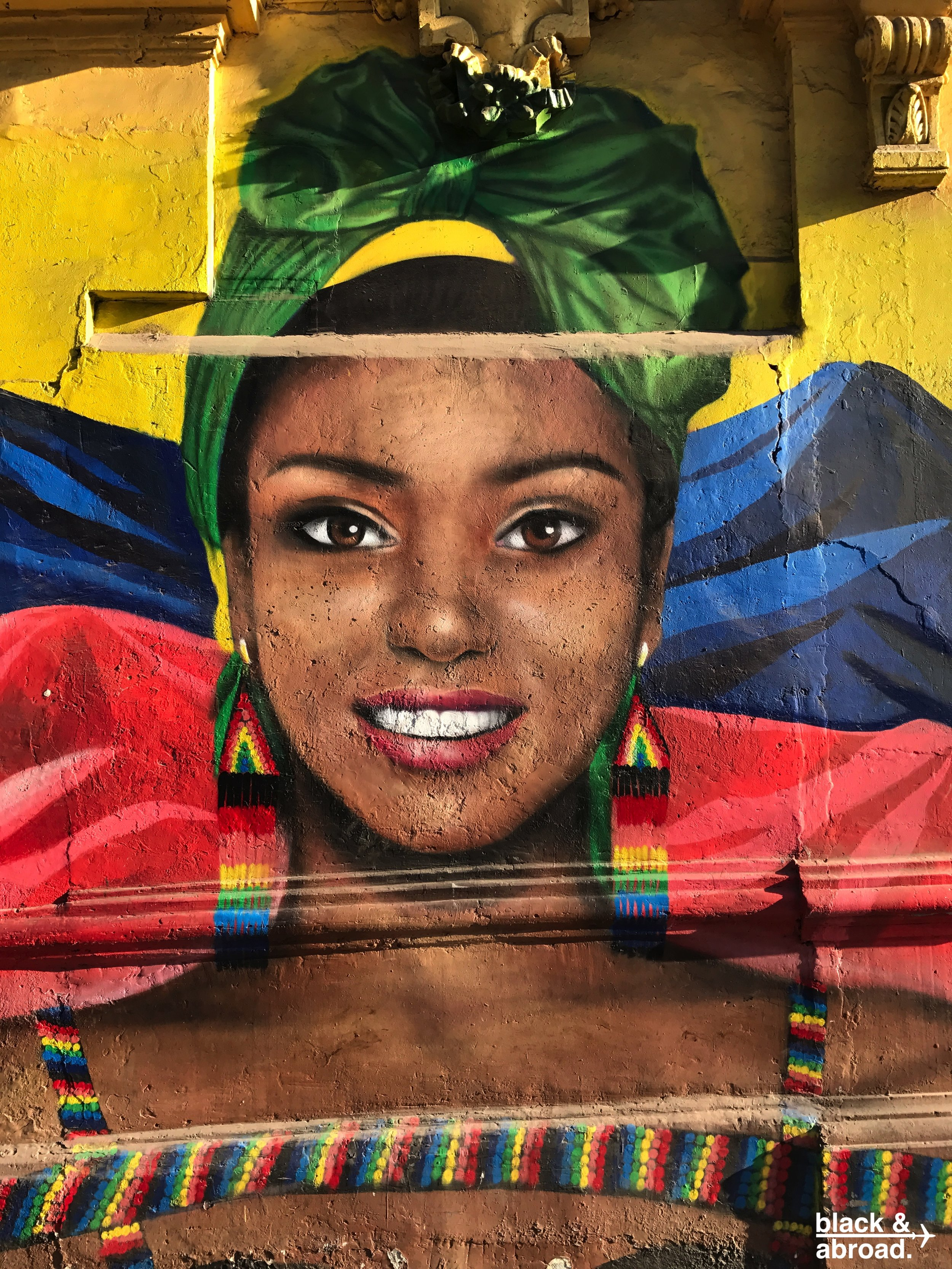 Some of the fantastic street art in Barrio Bellavista!