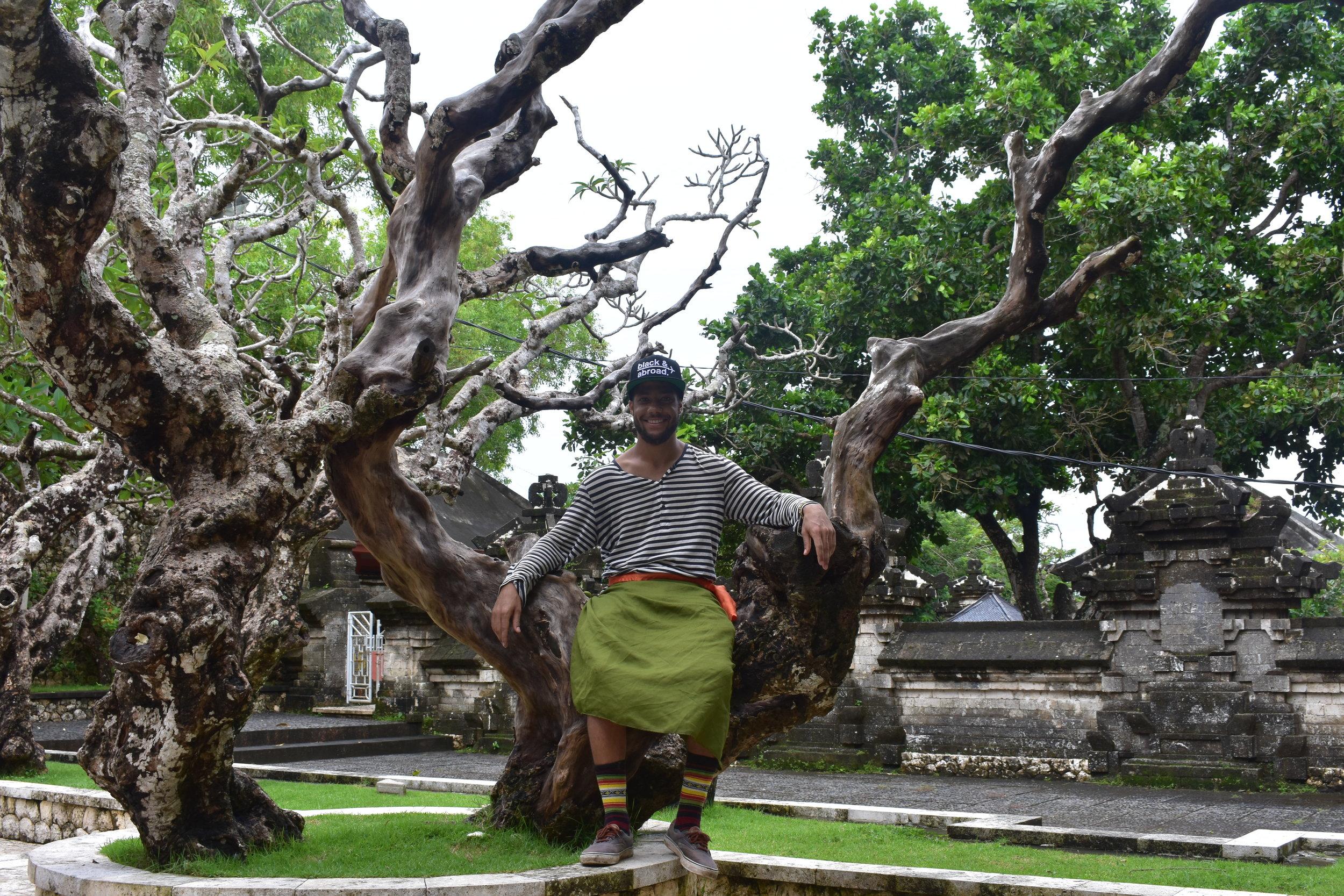 Me being safe at Uluwatu Temple, Bali