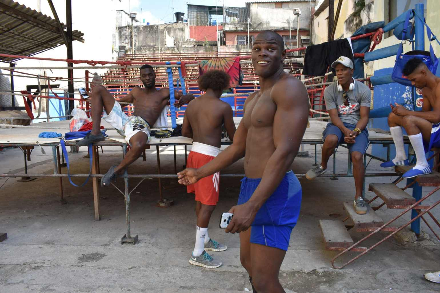 A bunch of the boxers (jacked monsters) at Gimnasio de Boxeo Rafael Trejo in Havana, Cuba