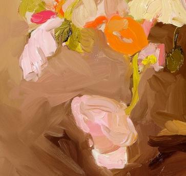 Snippet of Laura Jones's 'Poppies 2012, oil on linen, 70 x 86 cm'