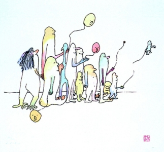 illustration by John Lennon (Randolf's Party)
