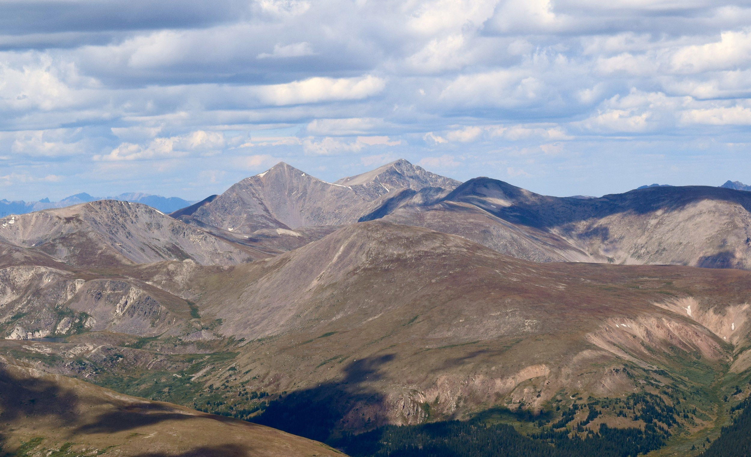Looking out towards Greys & Torreys Peaks. These will probably be the next 14ers we attempt in the spring!